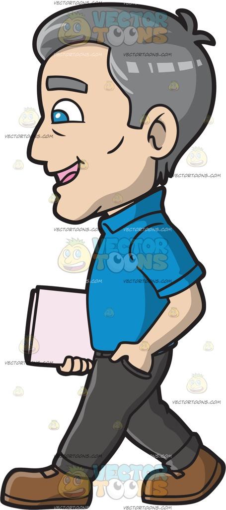 Dark Blue clipart polo shirt Man Clipart  Confidently Man