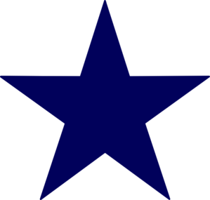 Dark Blue clipart star Clip online Blue Clker