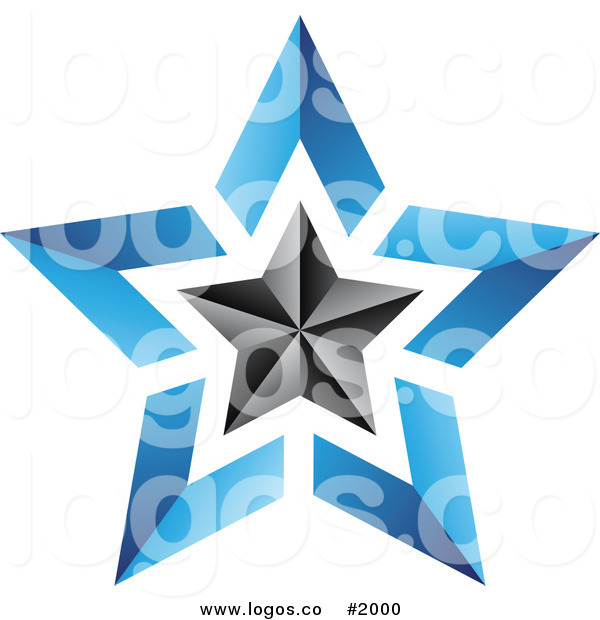 Dark Blue clipart star Free #2000 Free Black Black
