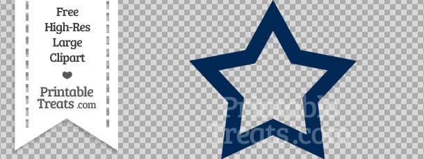 Dark Blue clipart star Frame Blue Printable Clipart Star