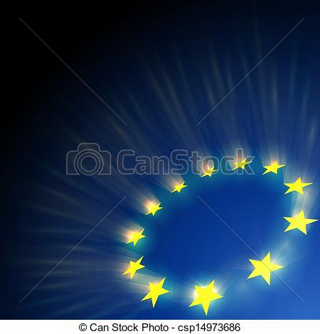 Dark Blue clipart star Csp14973686 dark Union European blue