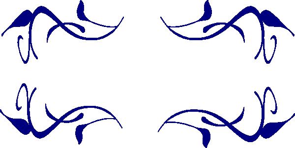 Dark Blue clipart swirl Art Clip Free Border Download