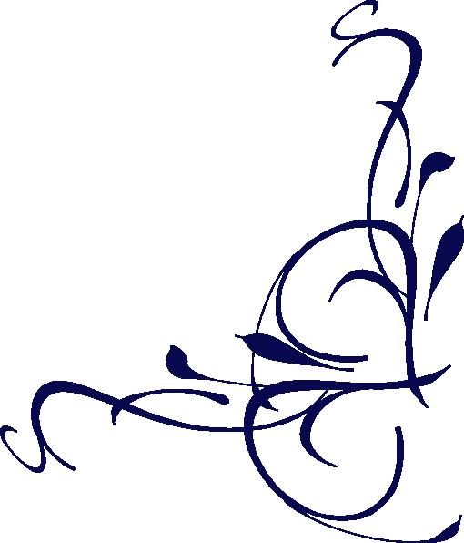 Dark Blue clipart swirl Art Clip at Corner Download