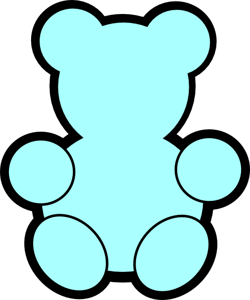 Teddy clipart outline Clip online Art image Download