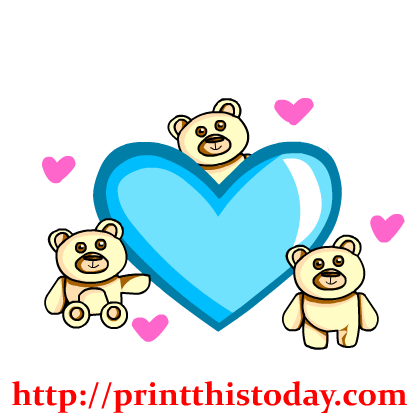 Dark Blue clipart teddy bear Heart Art Teddy Teddy Clip