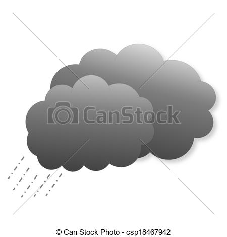 Clouds clipart dark cloud  Two icon as Drawing