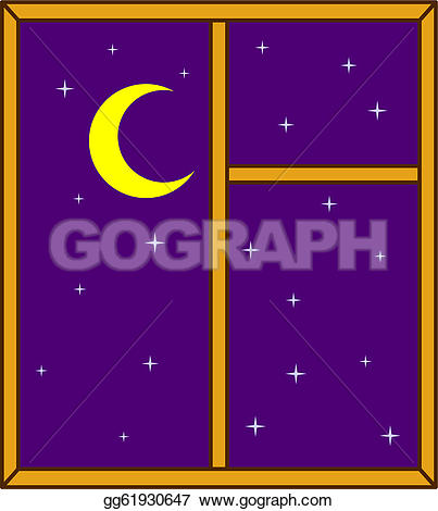 Drawn night sky Moon Drawing stars gg61930647 a