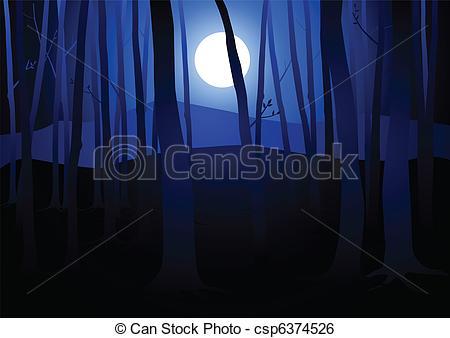 Vector Clip Woods Dark and