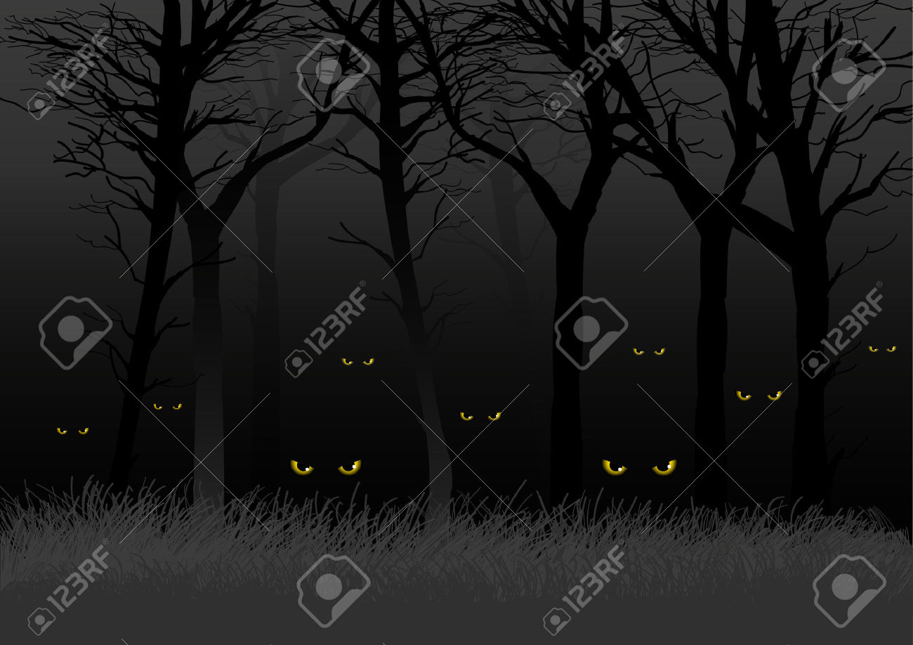 Scary clipart the dark #6