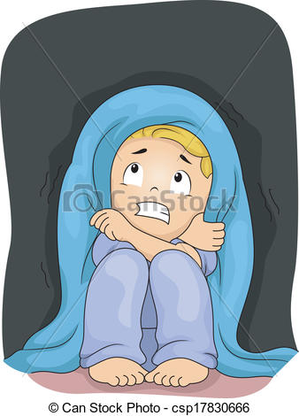 Bed clipart terrified Of Dark of the Little