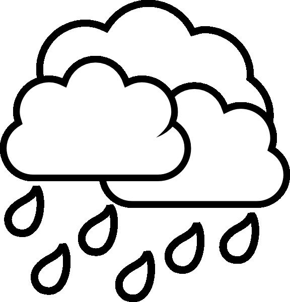Raindrops clipart black and white Rain Storm Clipart Cloud Cloud