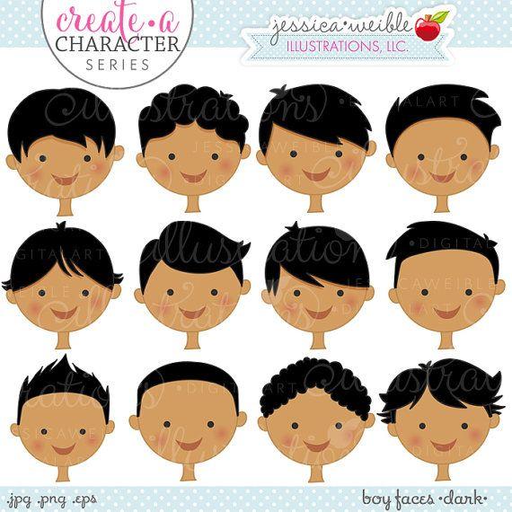 Dark Hair clipart child #6