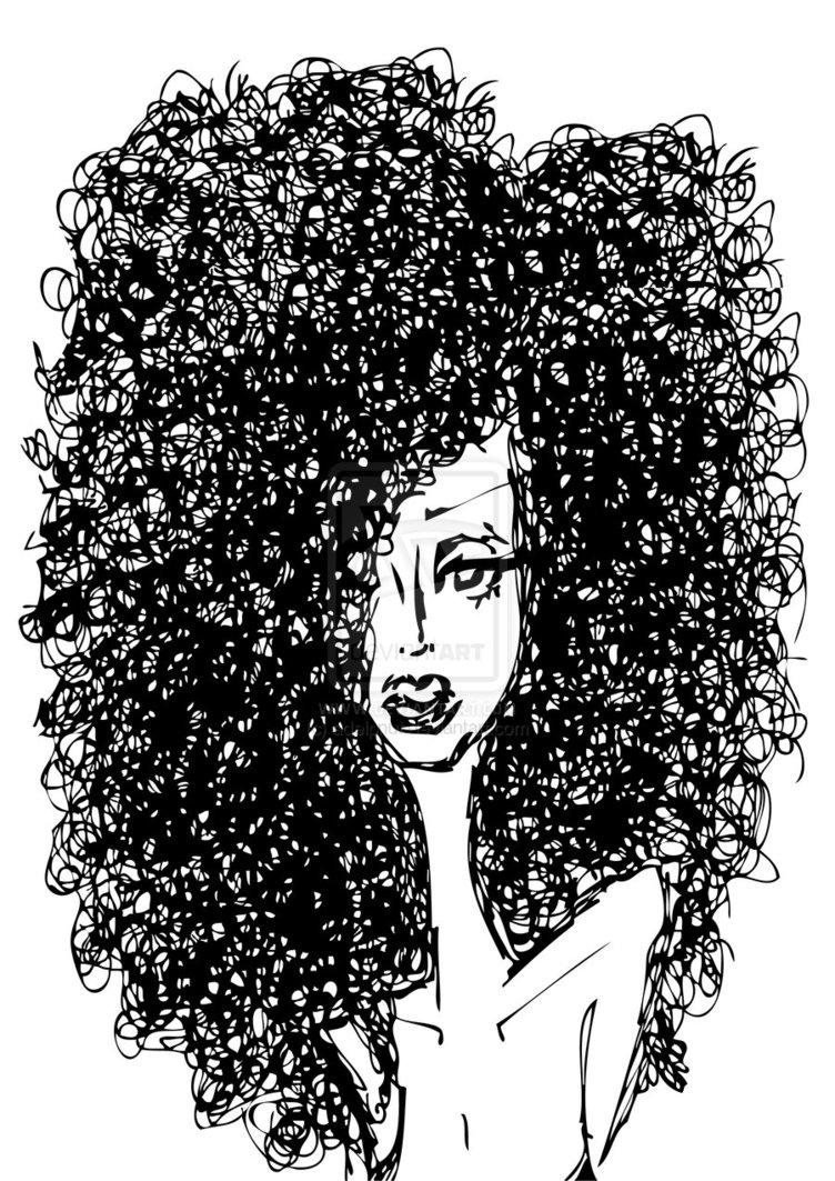 Dark Hair clipart curly Clipart Free Hair — Clipart