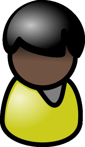 Dark Hair clipart guy Black vector Clip free Black