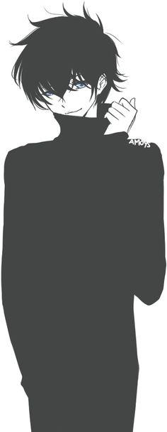 Dark Hair clipart guy Anime Anime Black hijo Boy
