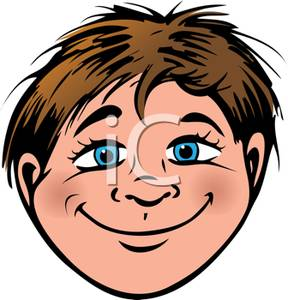 Brown Hair clipart boy head Clipground eyes with Showing Cartoon
