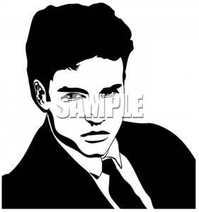 Black Hair clipart suit Black White Clip (page Space