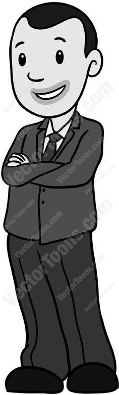 Dark Hair clipart suit #3