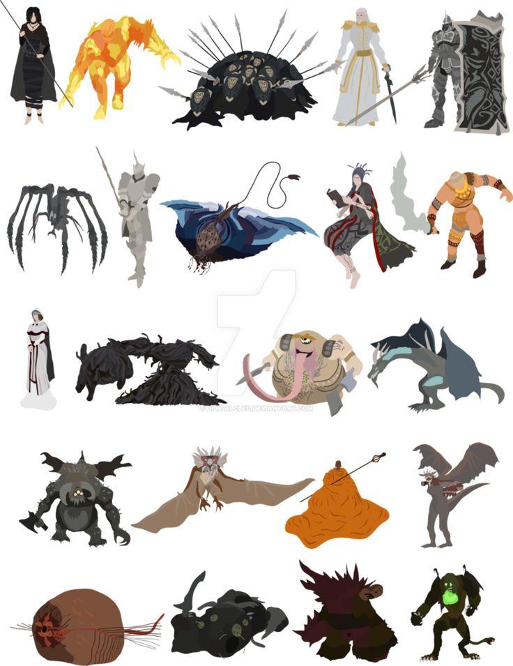 Dark Souls clipart demon's souls DeviantArt Souls about bosses 164