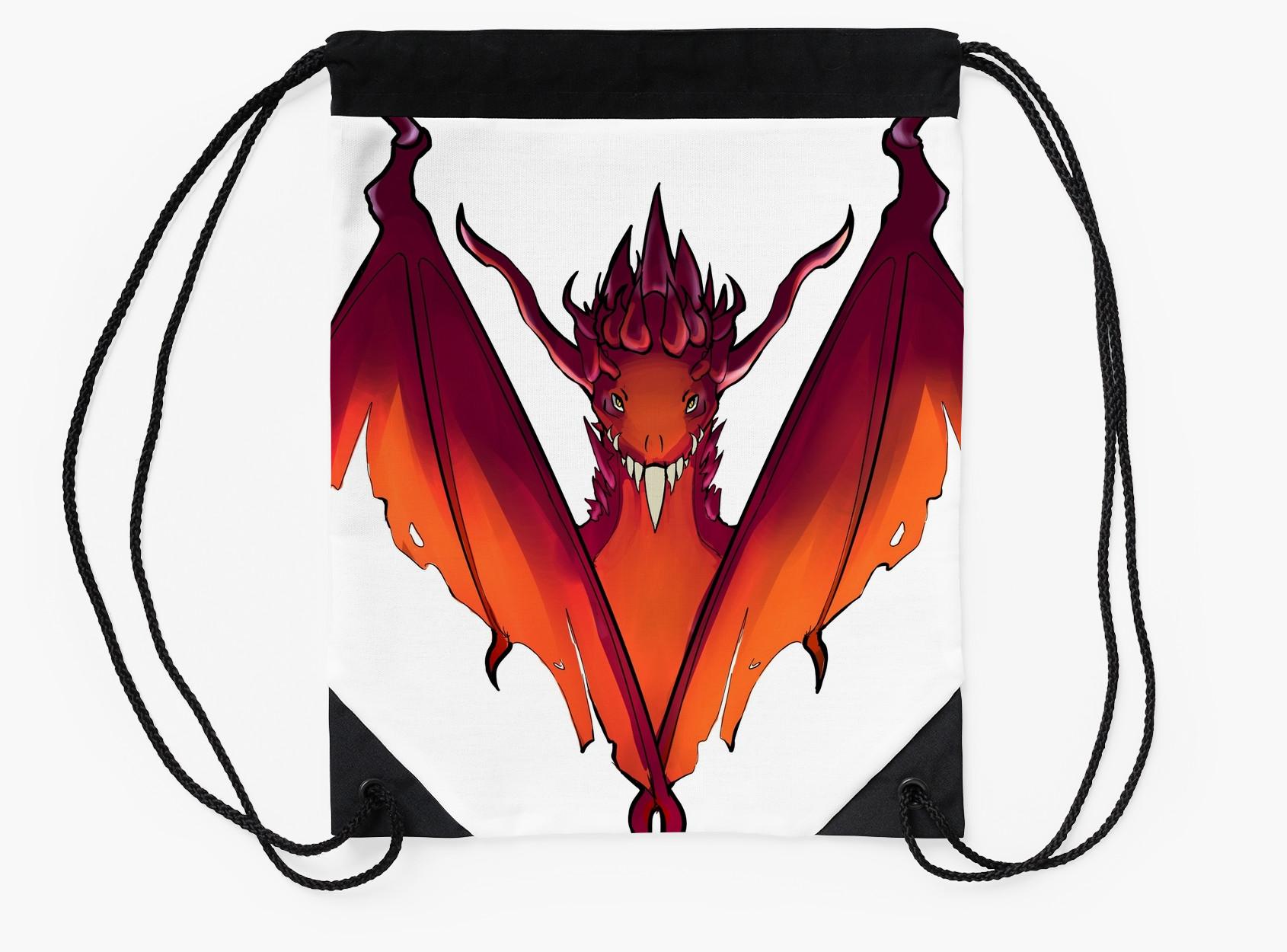 Dark Souls clipart hellkite Drake Bags Hellkite Hellkite Drawstring