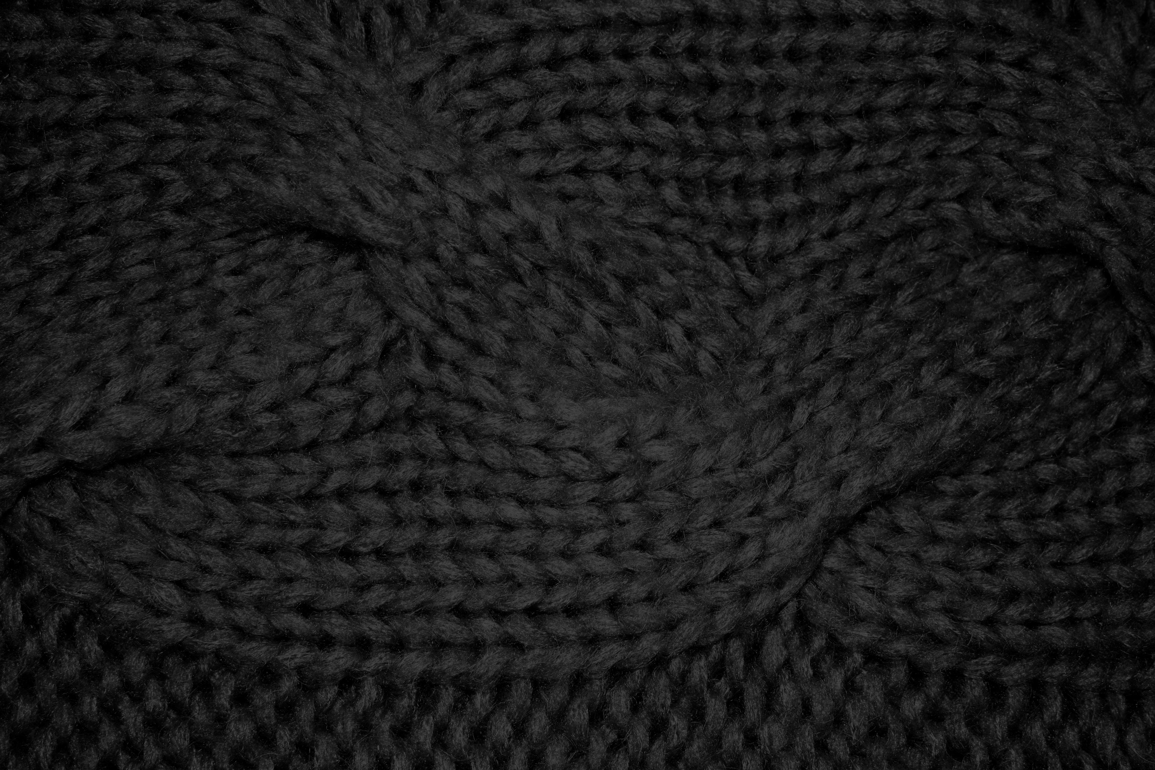 Dark Textures clipart black wool Black Free Black Cable Pattern