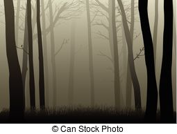 Dark Wood clipart night background Of Woods Vectorby EPS tanik3/2