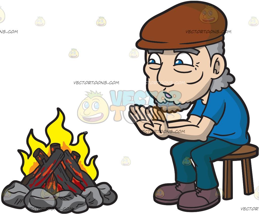Camp Fire clipart front Old Camp An Cartoon An