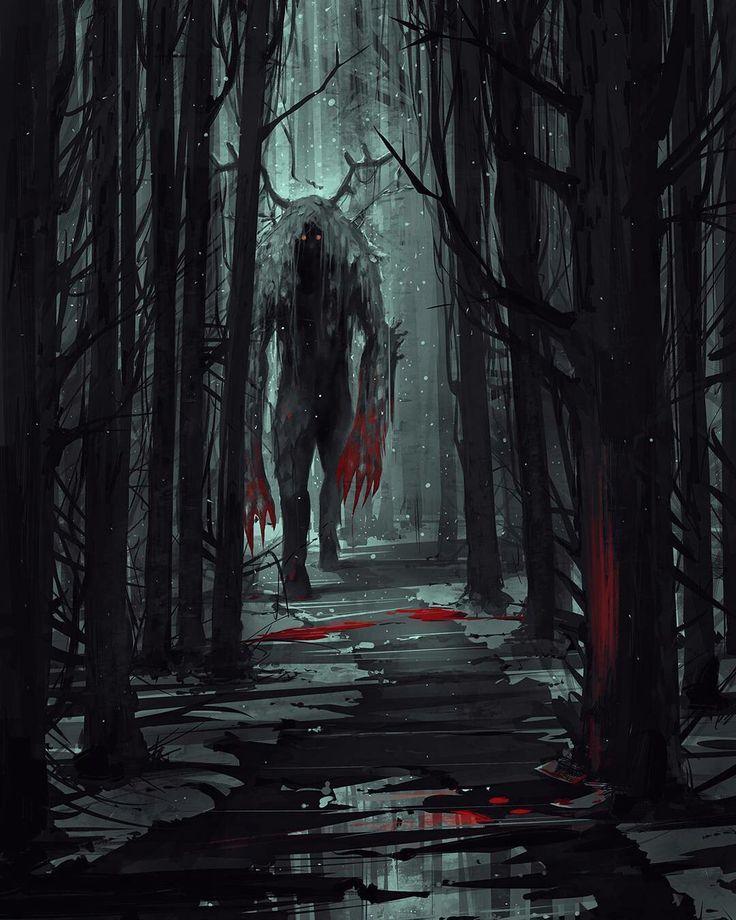 Drawn forest creepy #14
