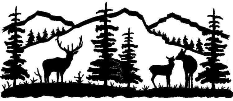 Mountain clipart mountain scenery Wall by Scene Metal wildlife