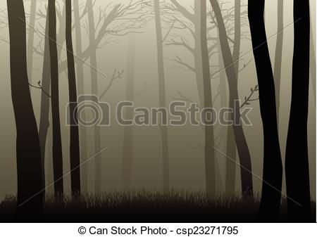 Dark Wood clipart forest tree Royalty and icon Backdrops Vector