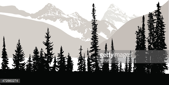 Dark Wood clipart forest tree Front row all snow Treeline