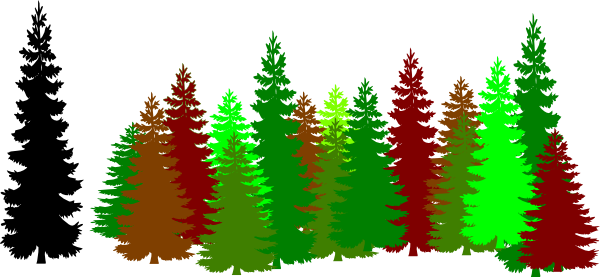 Tree clipart forest tree #4
