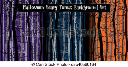 Dark Wood clipart night background Purple blue Trees of Branches