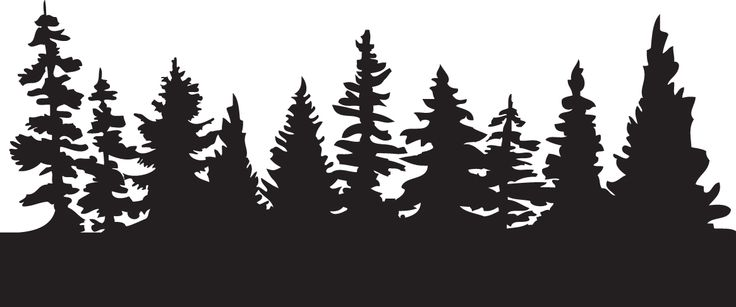 Pine Tree clipart dark forest Art Download Silhouette Tattoos Clipart