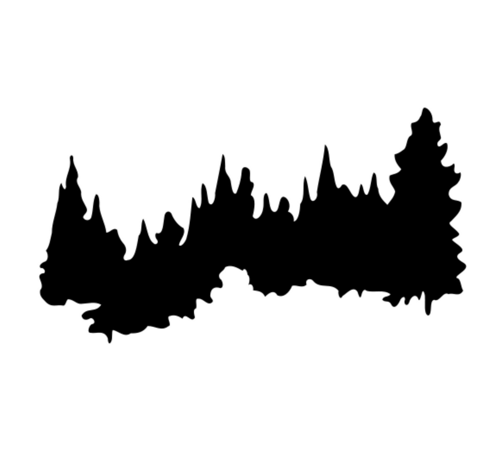 Pine clipart tree line Silhouette Best Blue Forest Silhouette