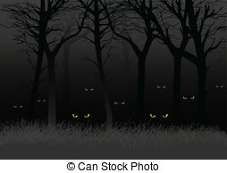 Dark Wood clipart scared the dark  362 Dark staring