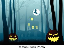 Dark Wood clipart scared the dark In Witch dark  scary