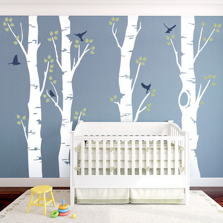 Dark Wood clipart woodland tree Themed Decal Woodland With nursery