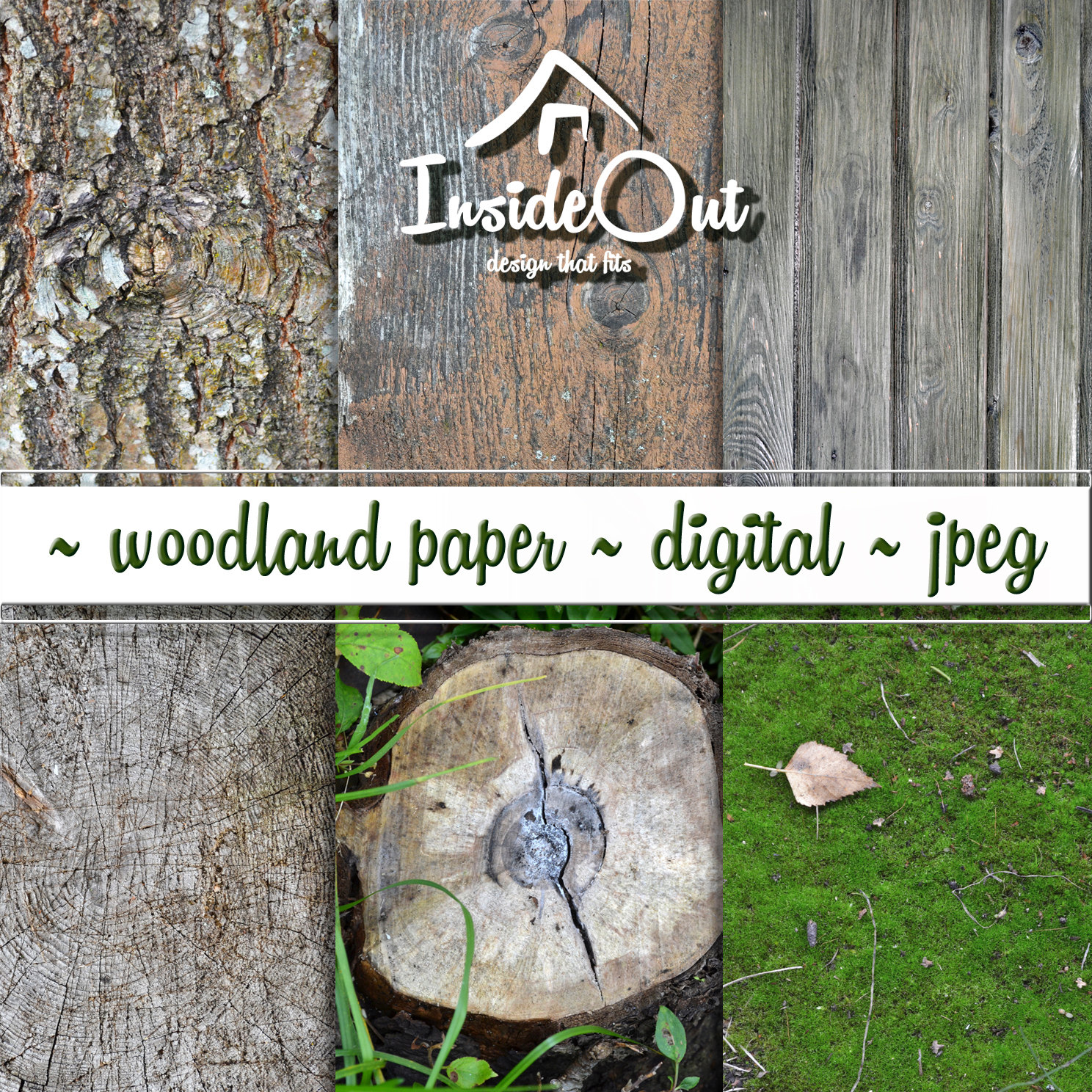 Dark Wood clipart woodland tree Rustic  Texture Natural Photo