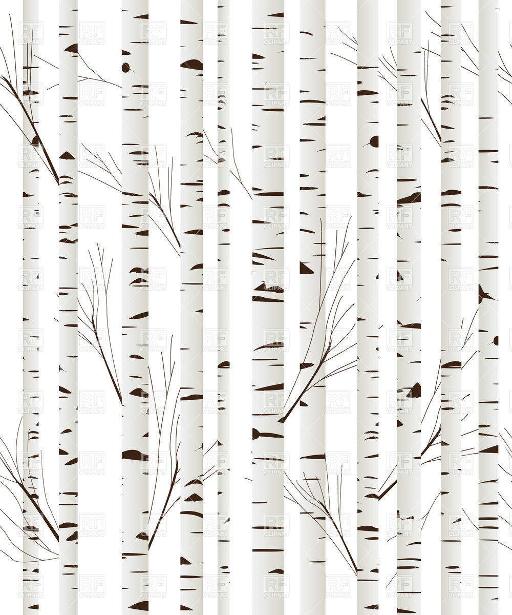 Dark Wood clipart woodland tree Free Birch wood background vector