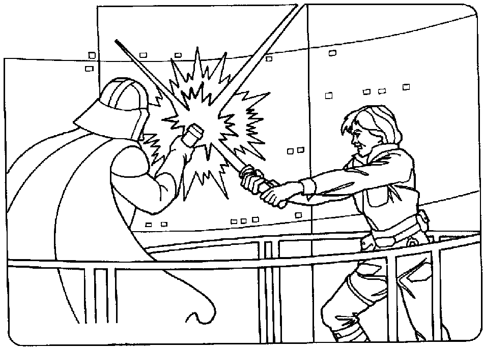 Luke Skywalker clipart coloring page Wars Printable Pages: Coloring Wars