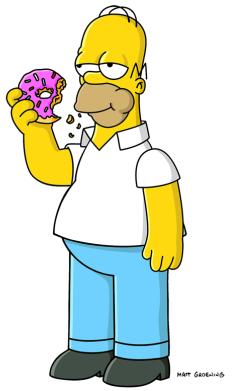 Drawn doughnut 2006 Wiki Homer Simpson by