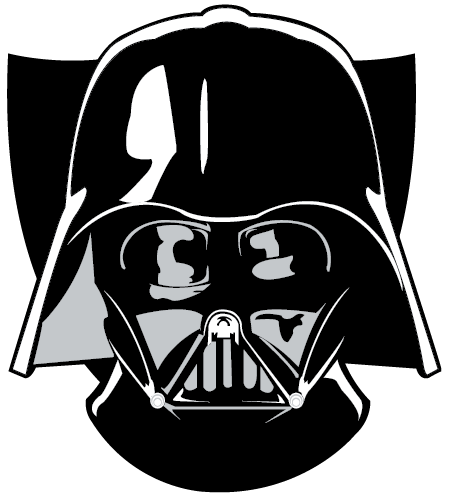 Drawn head hand holding  Vector Darth Face Vader