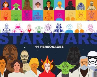 Luke Skywalker clipart princess leia Skywalker Set Wars Art 11