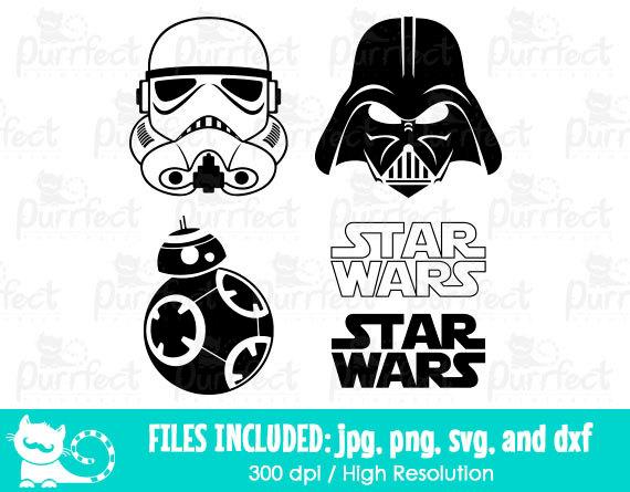 Luke Skywalker clipart stormtrooper Etsy Disney in svg svg