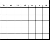 Date clipart blank calendar Template Printable  Calendar Blank