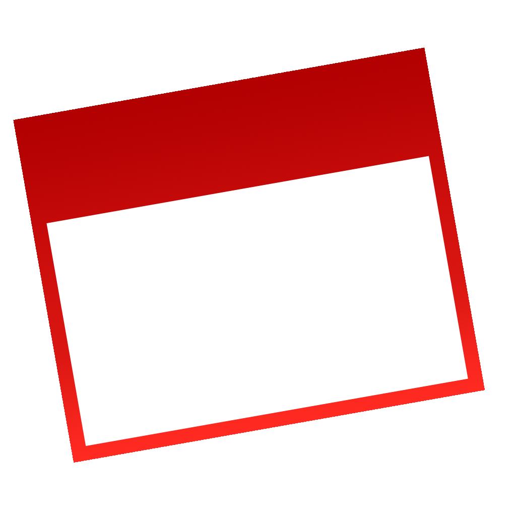 Date clipart blank calendar BITNOTE Calendar Date Blank Editable