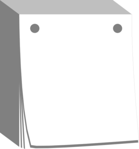 Date clipart blank calendar Blank Calendar Art vector com