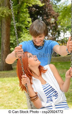 Date clipart boyfriend girlfriend Of Boyfriend and swing swing