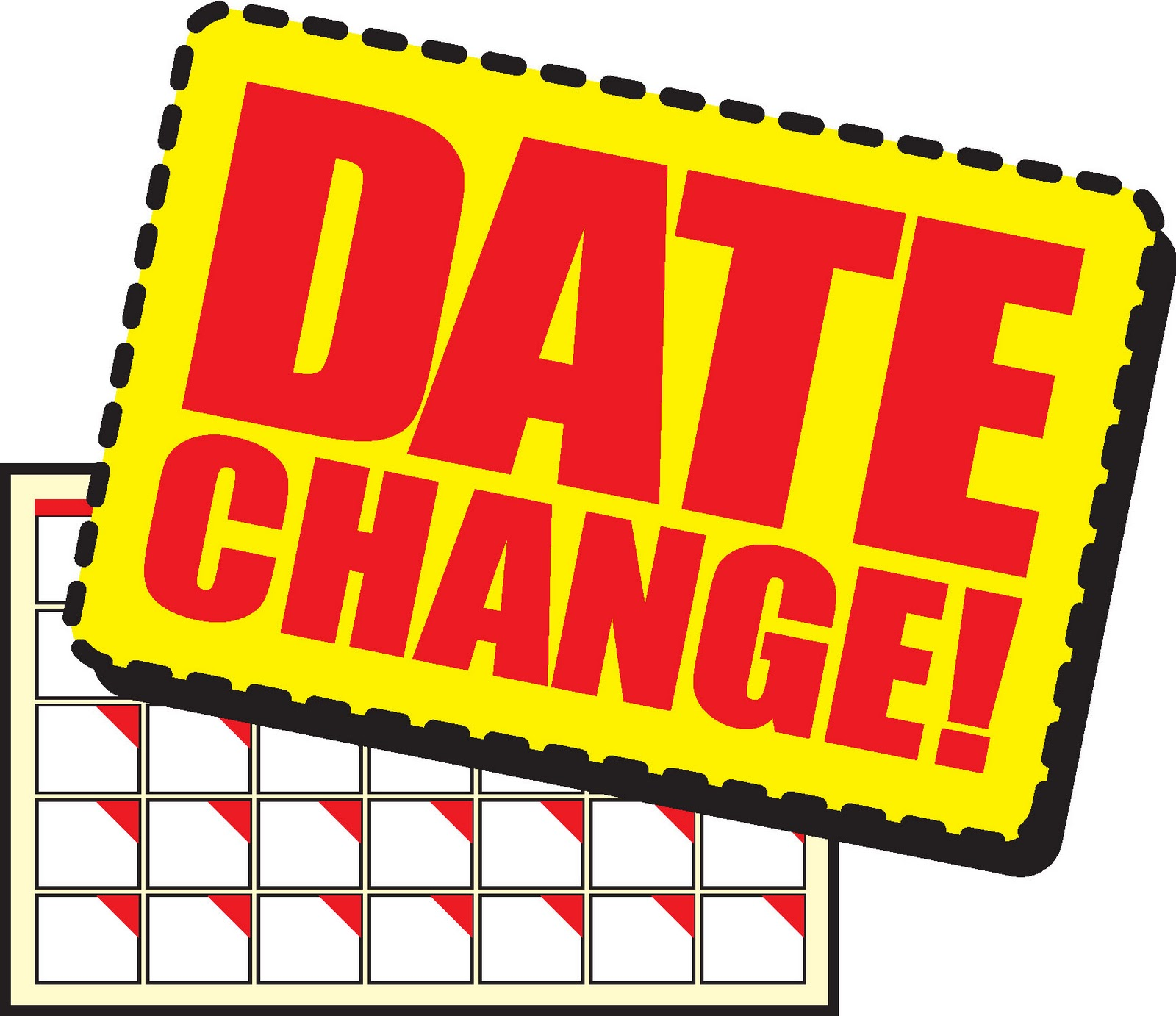 Date clipart busy schedule Clipart Booth Clipart Change Date